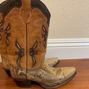 Frye python cowboy boots